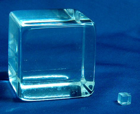 The Largest Cube (50mm) and the smallest (6mm)