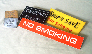 Engraving gives you hundreds of possibilities for your signage