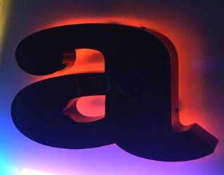 When the Box Type Letters are completely opaque, the back-light effect of neon is incredible