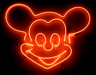 Even when used in Mono Colour, Neon Signs are still impressive