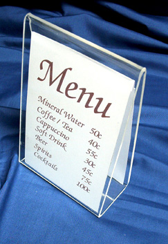 Another interesting Menu Holder - the Tent Holder